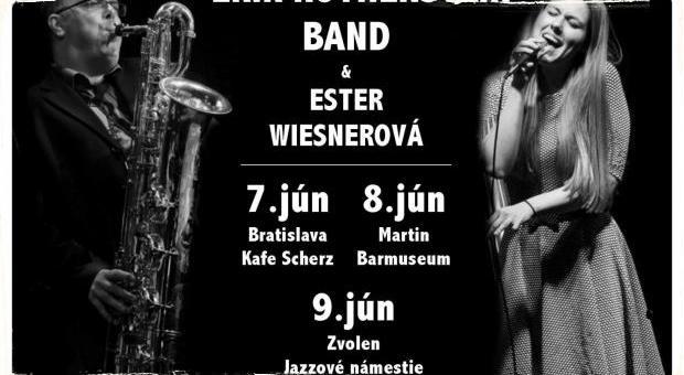 Erik Rothenstein Band and Ester Wiesnerová vystúpia začiatkom júna v troch slovenských mestách