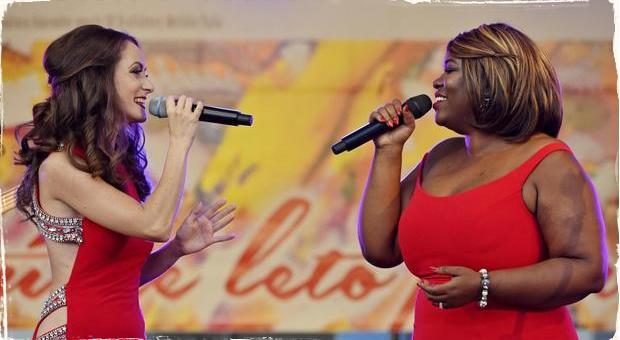Broadway v Bratislave: Na Hlavnom námestí koncertovala s Ankou Repkovou americká hviezda Moya Angela