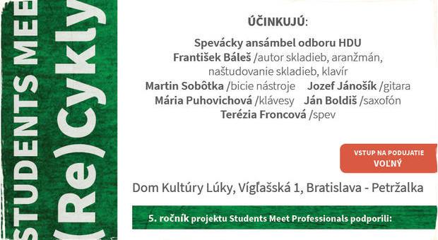 František Báleš ansámbel spolu so svojimi žiakmi predstaví svoje Básne múzické v novej podobe: Nenechajte si ujsť koncert v rámci projektu Students Meet Professionals