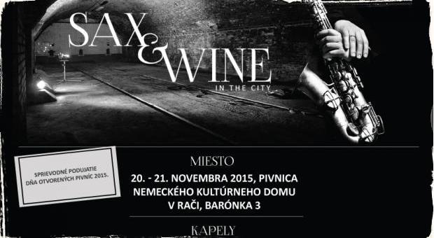 Festival SAX and WINE in the CITY už tento víkend v Bratislave