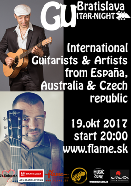 Bratislava Guitar Night-Tanausú Luis Diaz/Gordon Tann /Jana Šteflíčková, 19.10.2017 20:00