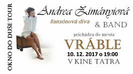 Andrea Zimányiová & Band vo Vrábľoch, 10.12.2017 19:00