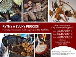 RYTMY A ZVUKY perkusií, 14.11.2017 16:00