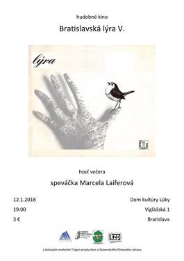 Hudobné kino - Bratislavská lýra V., 12.1.2018 19:00
