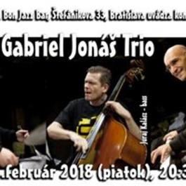 Gabriel Jonáš Trio, 16.2.2018 20:30