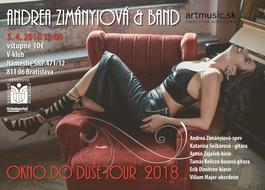 "Andrea Zimányiová & Band - ""Okno do duše TOUR 2018"", 5.4.2018 19:00"