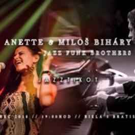 Anette & Miloš Bihary JazzFunkBrothers - Jazztikot Bratislava, 8.3.2018 19:00