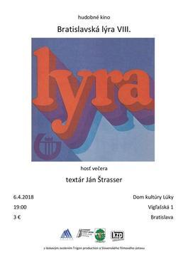 Hudobné kino - Bratislavská lýra VIII., 6.4.2018 19:00