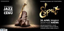 Esprit - udeľovanie cien za jazz s koncertom, 30.4.2018 20:00