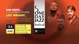 ONE DAY JAZZ - Lizz Wright a Slovenská filharmónia, Dan Bárta a Illustratosphere, 13.6.2018 19:30