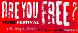 Are You FREE? - 11. ročník festivalu - druhý deň, 8.9.2018 20:00