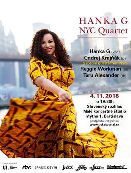 Hanka G NYC Quartet, 4.11.2018 19:30