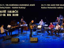Koncert: Matúš Jakabčic CZ-SK Big Band, Areál kaštieľa Kubínyi, v rámci festivalu Kubínska hudobná jeseň, 23.11.2018 19:00