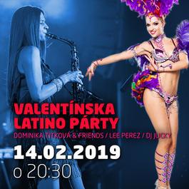 Valentínska latino párty - Dominika Titková @Jazz City Cafe, 14.2.2019 20:30