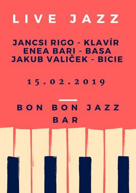 Jancsi Rigo & Enea Bari & Jakub Valiček, 15.2.2019 20:30