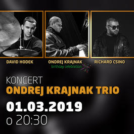 Ondrej Krajnak Trio @Jazz City Cafe, 1.3.2019 20:30