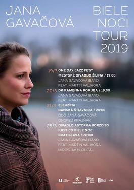 Kamenná Poruba: Biele Noci Tour 2019 Jana Gavačová Band feat. Martin Valihora, 20.3.2019 19:00