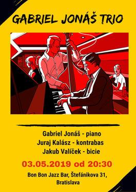 Gabriel Jonáš TRIO , 3.5.2019 20:30