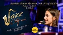Roberta Genna Quartet feat. Juraj Kalász @Jazz City Cafe, 7.6.2019 21:00