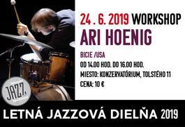 Workshop Ari Hoenig Trio /Letná jazzová dielňa v Bratislave, 24.6.2019 14:00