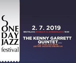 One Day Jazz Festival: Kenny Garrett Quintet v Bratislave, 2.7.2019 19:00