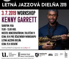 Workshop The Kenny Garrett Quintet: Letná jazzová dielňa v Bratislave, 3.7.2019 11:00