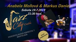Anabela Mollová & Markus Daniel @Jazz City Cafe, 19.7.2019 21:30