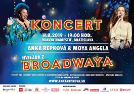 Anka Repková a hviezda Broadwaya Moya Angela, 11.8.2019 19:00