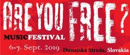 Are you Free? Musicfestival, 6.9.2019 20:00
