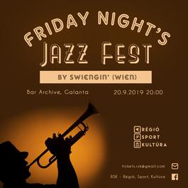 Friday Night Jazz by Swiengin', 20.9.2019 20:00
