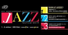 XXV. Medzinárodný Jazzový Festival v Košiciach, 3.10.2019 19:00