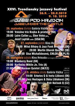XXVI. Jazz pod hradom, 27.9.2019 19:00
