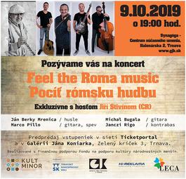 Feel the Roma music - Pocíť rómsku hudbu s hosťom Jiří Stivínom, 9.10.2019 19:00