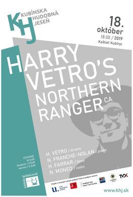 Kubínska hudobná jeseň: Harry Vetro´s Northern Ranger, 18.10.2019 18:00