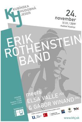 Kubínska hudobná jeseň: Erik Rothenstein Band, 24.11.2019 18:00