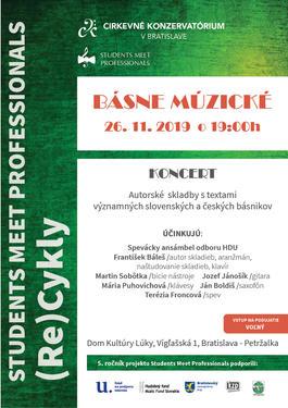 Básne múzické - Students meet Professionals, 26.11.2019 19:00