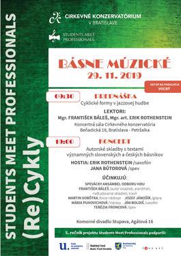 Básne múzické -Student Meet Professionals, 29.11.2019 19:00