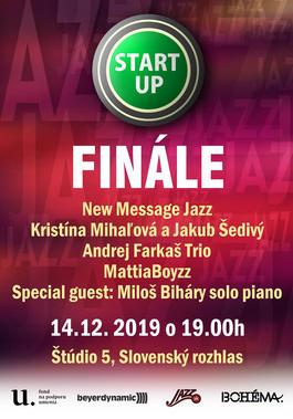 Jazz START UP – koncert finalistov s vyhlásením výsledkov, 14.12.2019 19:00