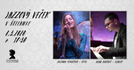 Koncert: Zuzana Kováčová a Alan Bartuš, Štefánka by Pulitzer, 6.3.2020 18:30