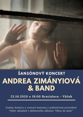 Andrea Zimányiová & Band - Šansónový koncert, 22.6.2020 20:00
