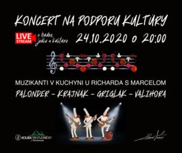 LIVE STREAM o jedle, hudbe a kultúre - koncert na podporu kultúry, 24.10.2020 20:00