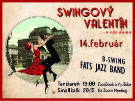 Swingový Valentín, 14.2.2021 19:00