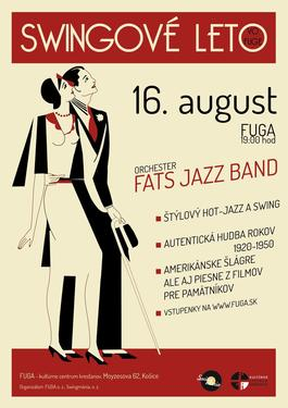 Swingové leto vo FUGE: FATS JAZZ BAND, 16.8.2021 19:00