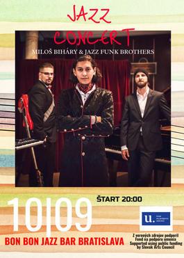 Miloš Biháry & Jazz Funk Brothers, 10.9.2021 20:00