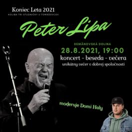 Peter Lipa band, koncert, beseda a večera, 28.8.2021 19:00