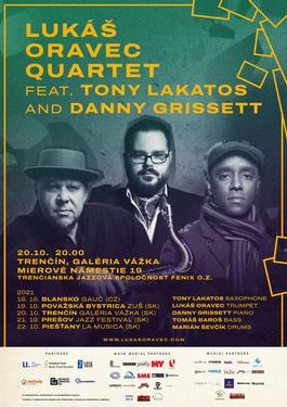 Lukáš Oravec Quartet feat Danny Grissett, Tony Lakatos, 20.10.2021 20:00