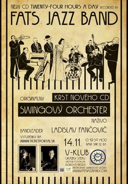 KRST CD Twenty-Four Hours A Day - Prešporské swingové večery, 14.11.2014 19:30
