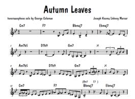 Umenie transkripcie 1: Autumn Leaves