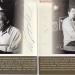 Podpisy Al Fostera a Kevina Haysa na albume Al Foster Quartet: Love, Peace and Jazz!