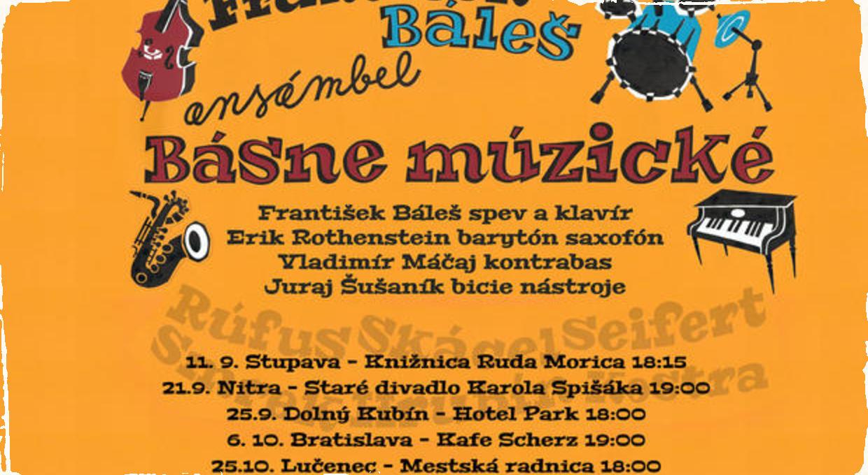 Turné klaviristu Františka Báleša: Svoj najnovší projekt Básne Múzické predstaví v piatich slovenských mestách
